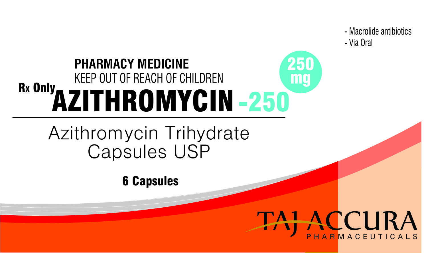 AZITHROMYCIN 250/500 MG - ORAL, Azithromycin 250 mg film-coated tablet