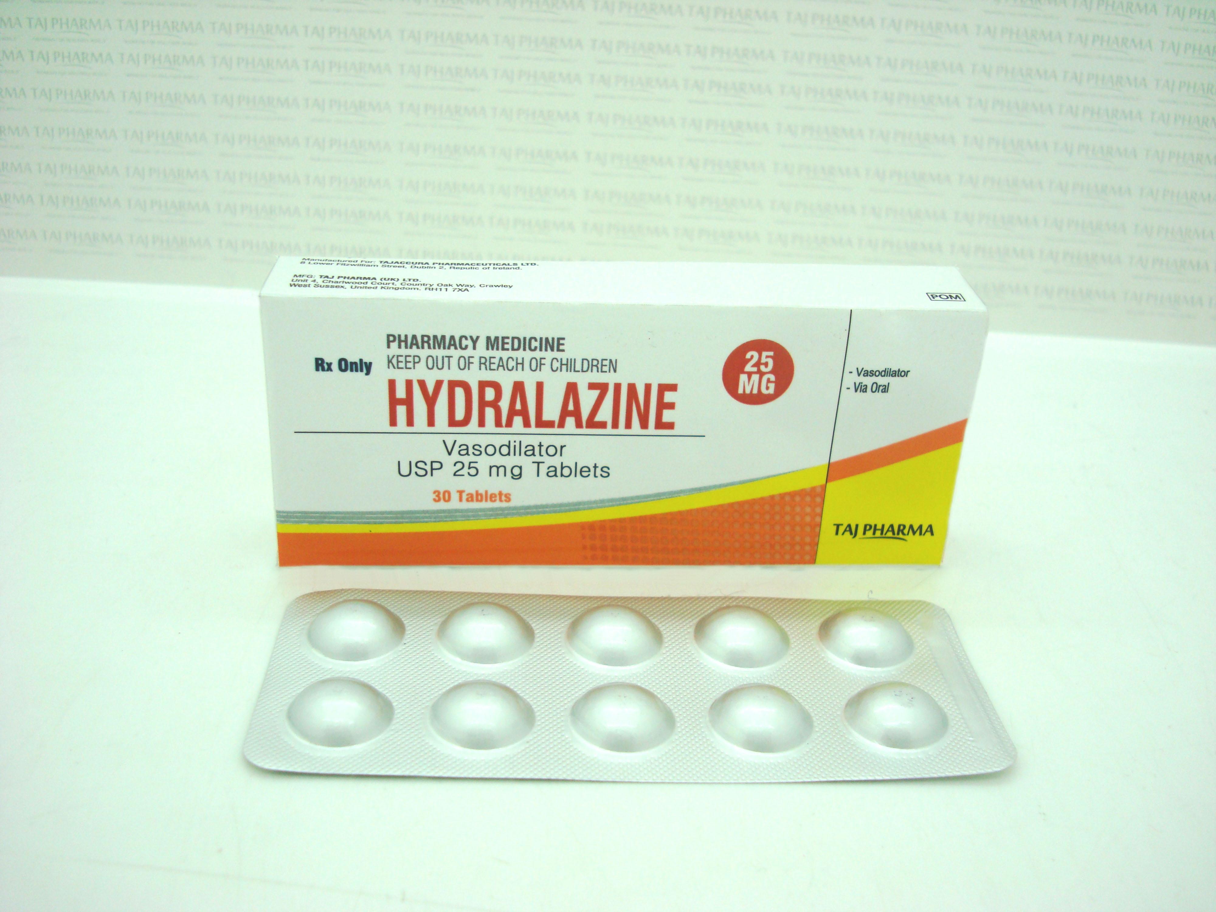 Taj Dearob Pharma Hydralazine 25 mg Tablets - Taj Dearob ...
