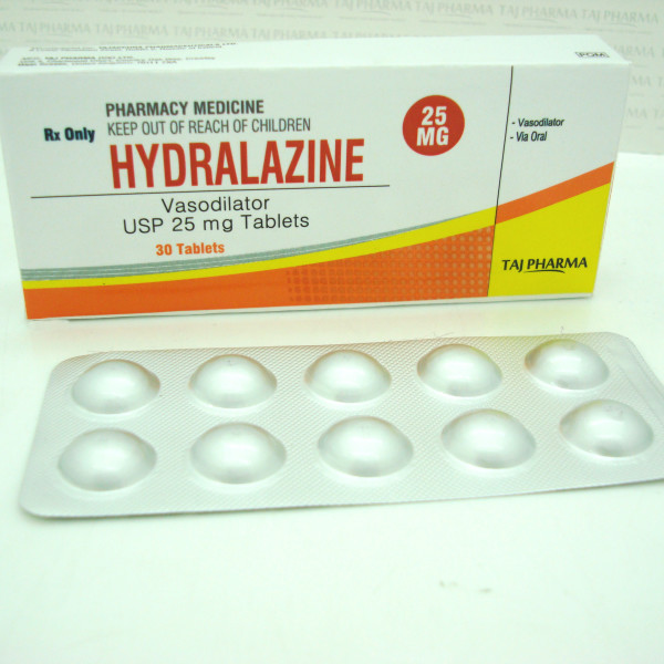 Hydralazine Vasodilator USP 25 mg Tablets