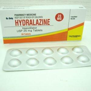Hydralazine Vasodilator USP 25 mg Tablets